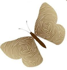 I love the fingerprints inside the wings!