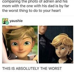 Miraculous Ladybug || Adrien || Nooo~ this is terrible! I'm not crying, my eyes are just leaking T-T