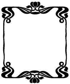 Border Art Nouveau Frame 24 ~ Bnspyrd.deviantart.com on @deviantART ~ Free Download