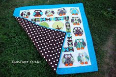 Rock.Paper.Create.: Owl Quilt: link to pattern included, plus a link to a basting glue she used :)