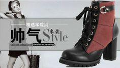Luxus Winter Lace Up Schnür Biker Stiefel Stiefelette Ankle Boots Pumps High Heels Keilabsatz