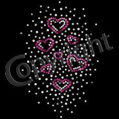 New Women's Rhinestone Valentine Heart Love Tee T by shirtlady