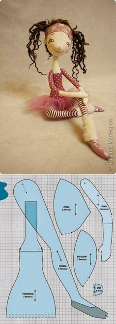 Sewing Dolls Patterns Fabrics Ideas For 2019 Doll Crafts, Diy Doll, Doll Toys, Baby Dolls, Dolls Dolls, Sewing Dolls, Doll Tutorial, Doll Clothes Patterns, Rag Doll Patterns