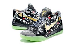 online store bd06f fa7f6 Kobe 9 Elite All Star Devotion Multi Color Gree Glow Kobe Sneakers, Kobe 8  Shoes