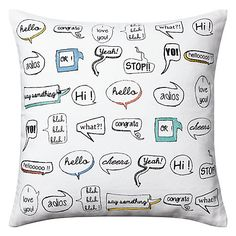 Speech bubble cushion from John Lewis I like the idea of it. What would have been cool is the cushion shape of a speech bubble than a square.