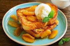 French Toast with Caramel Apples