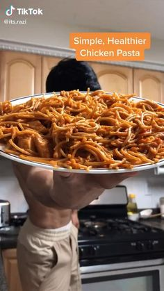 Healthy Meal Prep, Healthy Snacks, Healthy Eating, Healthy Recipes, Healthy Chicken Pasta, Chicken Recipes, Plats Healthy, Lunches And Dinners, Diy Food