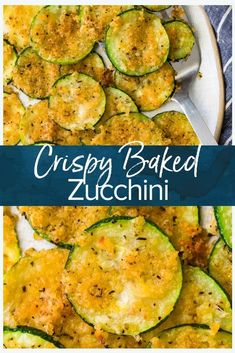This crispy baked zucchini recipe is an easy vegetable side dish that's ready in just fifteen minutes! Deliciously crunchy and cheesy, and a great lower carb alternative to fries. Made with simple ingredients. Easy Vegetable Side Dishes, Healthy Side Dishes, Vegetable Sides, Simple Vegetable Recipes, Zucchini Vegetable, Easy Zucchini Recipes, Bake Zucchini, Baked Zucchini Recipe, Zucchini Chips