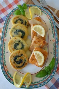 Kartoffel-Spinat-Schnecken mit Lachs und Zitronensoße - Die Küchenzuckerschnecke