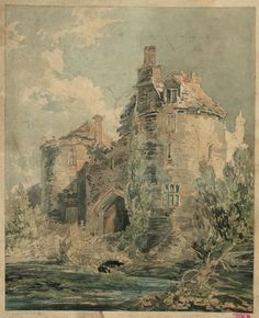 Joseph Mallord William Turner 'St Briavel's Castle, Gloucestershire', - From Watercolours and Studies Relating to the Welsh and Marches Tours  -  c.1793–4  -  Gouache, graphite and watercolour on paper -  Dimensions Support: 234 x 191 mm -  Collection -  Tate