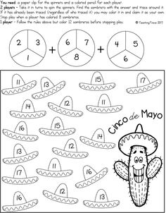 Cinco de Mayo Morning Work Packet ELA and Math w/ photo