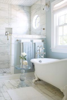 Loving the marble & baby blue combination