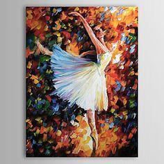 Pessoas mão pintura a óleo pintados Dançando Lady 1323-PE235 - BRL R$ 156,72