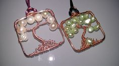 Tree of life pendant with fresh water pearls choose your style