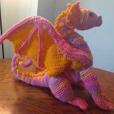 Molly and Mom added a photo of their purchase Crochet Patterns Amigurumi, Crochet Dolls, Crochet Stitches, Crochet Dragon, Pattern Library, Sell Items, Single Crochet, Craft Stores, Floral Arrangements