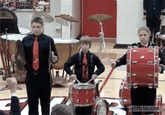 The most baller move a human can do when their cymbal breaks: | 33 GIFs From 2013 That Will Make You Laugh Every Time