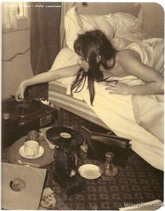 playing records from bed