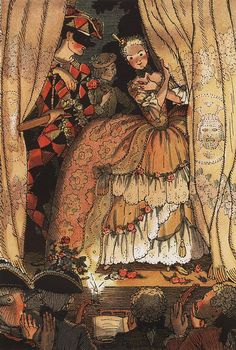 Book of the Marquise. Illustration 1 - Konstantin Somov