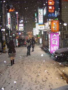 Seoul in winter.