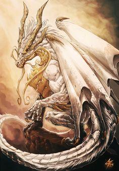 Опасные существа дракон, арт, fantasy art, человек, магия, длиннопост