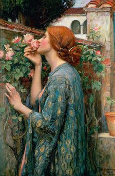 The Soul Of The Rose-John William Waterhouse 1849-1917  English Pre-Raphaelite painter
