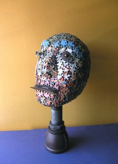 Recycled Art Puzzle Assemblage by PaulaArt on Etsy