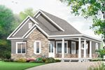 The Mayer Hill Ranch Home has 3 bedrooms and 2 full baths. See amenities for Plan 032D-0832.
