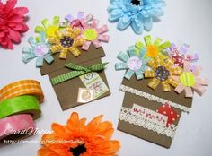 washi tape flower pot card.
