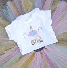 Unicorn First Birthday Outfit Unicorn Tutu Unicorn Bodysuit