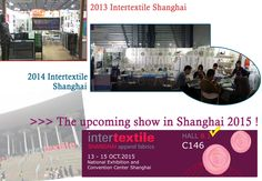 Our next show in Intertextile Shanghai is coming up. Please visit our shine bright booth!   < Intertextile Shanghai Apparel Fabrics > Shine Art's booth : Hall 8.1 C146  National Exhibition and Convention Center Shanghai. October 13th to 15th.