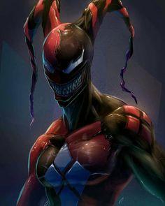 Venomized and Carnageized Harley Quinn Venom Comics, Marvel Venom, Marvel Comics Art, Marvel Heroes, Thor Marvel, Comic Book Characters, Marvel Characters, Comic Character, Comic Manga