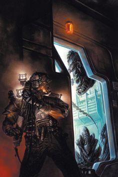 Amazing cover art for #Aliens Colonial Marines comic by Dave Dorman #WeylandYutani