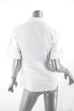 Jil Sander Crispy Short Sleeve Top White