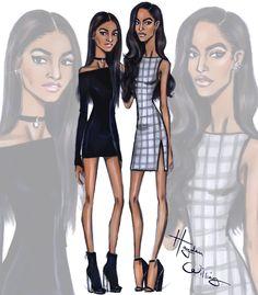 Sasha and Malia Obama by Hayden Williams