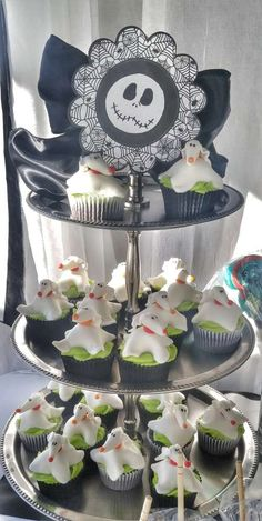 Cupcakes At A Nightmare Before Christmas Baby Shower Party! See More Party  Planning Ideas At