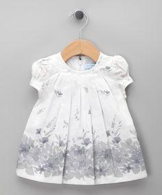 Blanco Flower Garden Dress - Infant & Toddler
