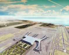 Istanbul New Airport, Istanbul Ataturk Airport, Airport Design, Building Information Modeling, Concept Architecture, Architecture Design, Travel News, Aerial View, New Image