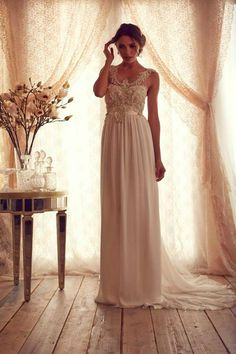 Stunning Wedding Dresses by Anna Campbell 2013...It's the embellishments that make a simple gown beautiful!!! Add embellishment that fits your budget. Ask your dressmaker for suggestions.