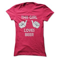This Girl Loves Beer - #gift for him #photo gift