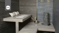 sauna / www.k-rauta. Saunas, Sauna Shower, Finnish Sauna, Sauna Room, Spa Rooms, Home Spa, Comfort Zone, Outdoor Furniture, Trendy Tree