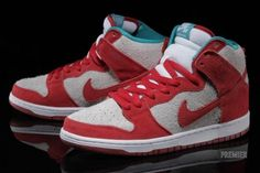 Nike Dunk High Pro SB – Gym Red/White-Turbo Green – Available Now