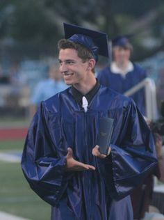 Daniel Kinney shows off his diploma during the Chambersburg Area Senior High School graduation on Friday, June 8, 2012. (Public Opinion/Ryan Blackwell)