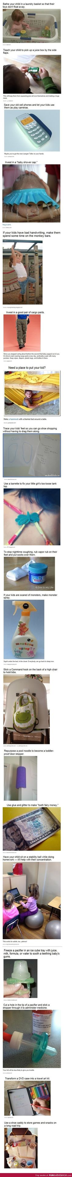 Some brilliant parenting tips! awesome