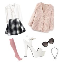 Chanel Oberlin - Scream Queens by xnaomisantana on Polyvore featuring H&M, Chicnova Fashion, Chicwish, Falke, SPURR, BaubleBar and Oscar de la Renta