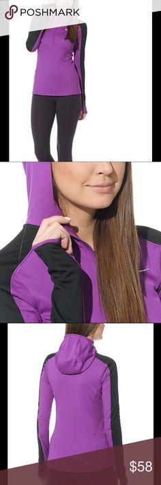 NIKE THERMAL QUARTER ZIP RUNNING HOODIE JACKET NO TRADES - The run-specific hood provides added coverage while offering visibility. Stay on track to get the perfect stride in the Thermal Quarter Zip hoodie. Quarter-zip running hoodie Streamlined fit for minimal distractions Dri-FIT fabric helps keep you dry and comfortable Quarter-zip construction for customized ventilation Run-specific scuba hood provides added coverage with visibility Machine wash 89% polyester / 11% spandex Nike Jackets…