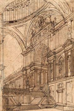 "uomobird: "" ganymedesrocks: "" architecture-drawings: "" Ferdinando Galli Bibiena "" Ferdinando Maria Galli, often called Ferdinando Galli da Bibbiena, but also Ferdinando Galli Bibbiena or Bibiena (1657 – 1743) was an Italian Baroque-era architect,..."