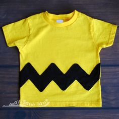 Charlie Brown Shirt Charlie Brown Costume Baby Charlie Brown Yellow and Black Toddler Halloween Costum Baby Halloween Costume. $20.00, via Etsy.
