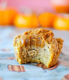 Pumpkin Pie Stuffed Pumpkin Muffins: http://chocolatecoveredkatie.com/2012/11/18/pumpkin-pie-pumpkin-muffins/