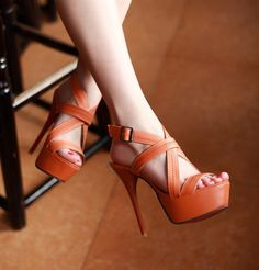 Buckle Strap Hollow High Heels Peep Toes Plus Size Sandals For Women Sexy High Heels, Womens High Heels, Crochet Bodycon Dresses, Red Bottoms, Pump Shoes, Women's Shoes, Women's Fashion Dresses, Me Too Shoes, Peep Toe