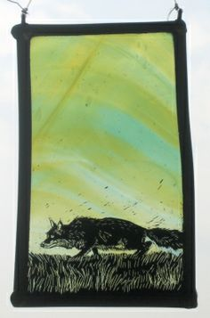 by Tamsin Abbott Glass Painting, Stained Glass Paint, Mosaic Stained, Painting, Glass Design, Paintings I Love, Art, Glass Art, Fox Art